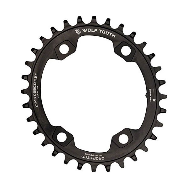 Wolf Tooth XTR M9000 96 BCD Plato, Negro, 34