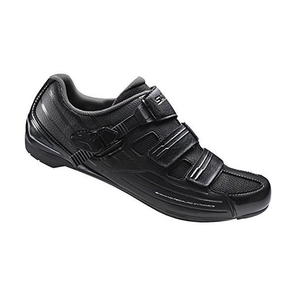 Shimano SH-RP3L- Zapatos de ciclismo para adultos SH-RP3L GR.Ancho SPD-SL cierre velcro/mariposa, 42, ESHRP3NG420EL00