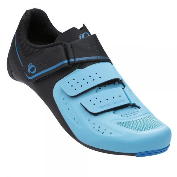 Pearl Izumi Select Road V5 Zapatillas Ciclismo, Mujer, Negro/Azul, 41