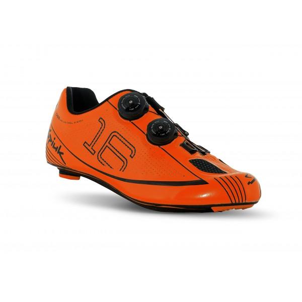 Spiuk 16 Road Carbono - Zapatillas unisex, color naranja/negro, talla 39