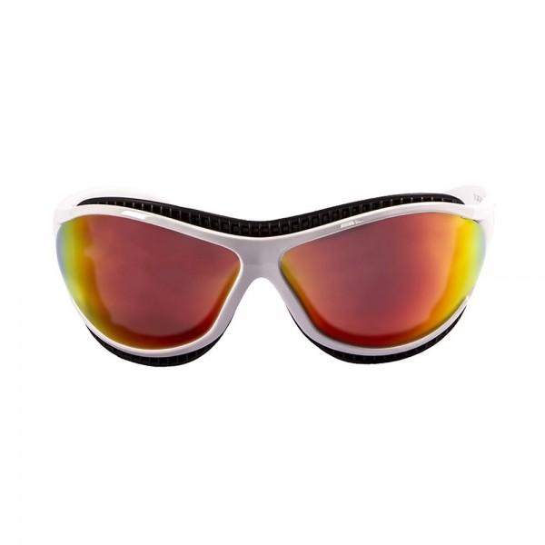 Ocean Sunglasses tierra de fuego - gafas de sol polarizadas - Montura : Blanco Mate - Lentes : Amarillo Espejo  12201.3
