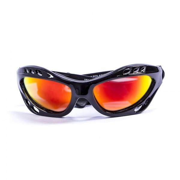 Ocean Sunglasses Cumbuco - gafas de sol polarizadas - Montura : Negro Brillante - Lentes: Amarillo Espejo  15001.1