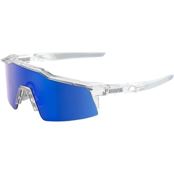 100% speedcraft gafas de sol unisex, transparente