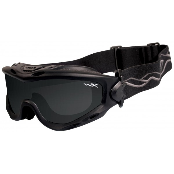 Wiley X Gafas protectoras Spear en juego con 2 cristales, color negro mate, M/L, SP29B