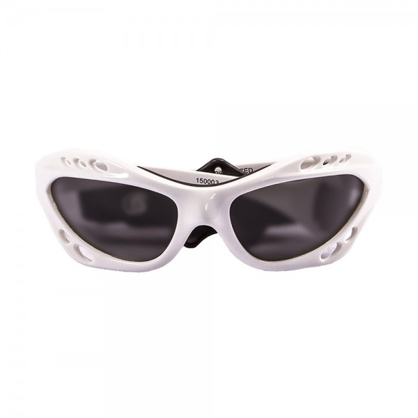 Ocean Sunglasses Cumbuco - gafas de sol polarizadas - Montura : Blanco Brillante - Lentes : Ahumadas  15000.3