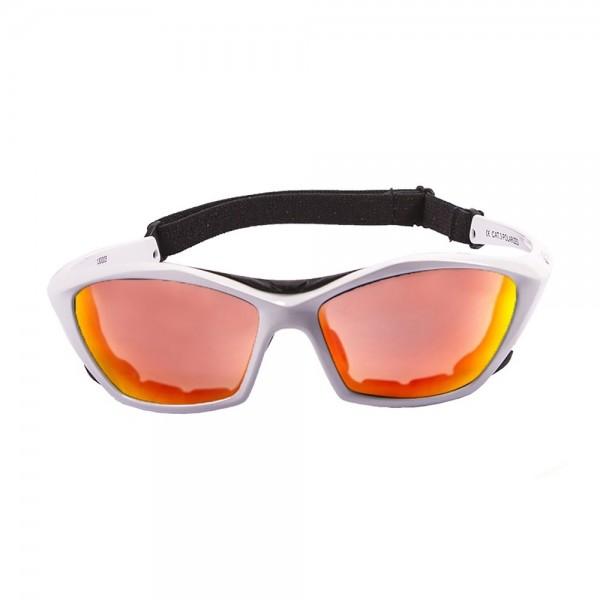 Ocean Sunglasses lake garda - gafas de sol polarizadas - Montura : Blanco Brillante - Lentes : Amarillo Espejo  13001.3