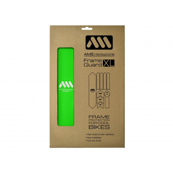 All Mountain Style AMSFG2GRWH Protector de Cuadro, Unisex Adulto, Verde/Blanco, XL