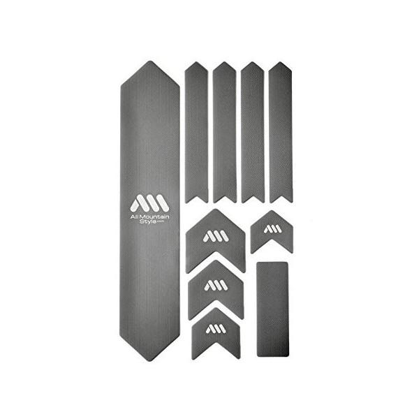 All Mountain Style AMSFG2SVWH Protector de Cuadro, Unisex Adulto, Plata/Blanco, XL
