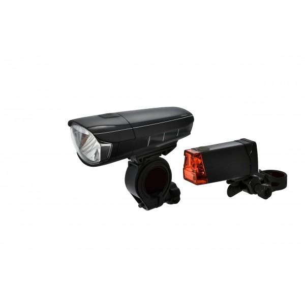 Dansi STVZO LED Luz de Bicicleta, Juego con Delantera y Trasera, conmutable  Entre 30/15Lux, Lluvia de y antigolpes, 44001B