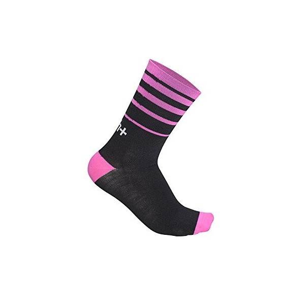 RH Feel 15, Calcetines Ciclismo Hombre, Negro/Deep Pink, S/M