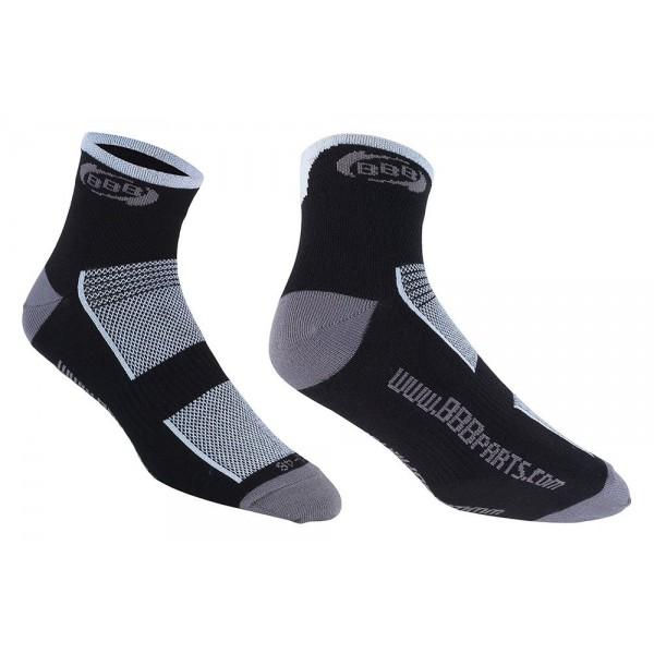 BBB Technofeet BSO-01 Calcetines deportivos, Hombre, Negro/Blanco, 43-46