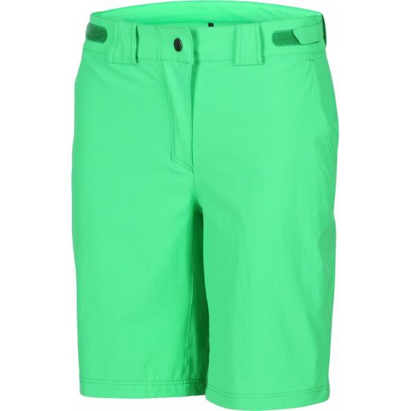 Ziener Pantalón corto para mujer, talla 42, color verde