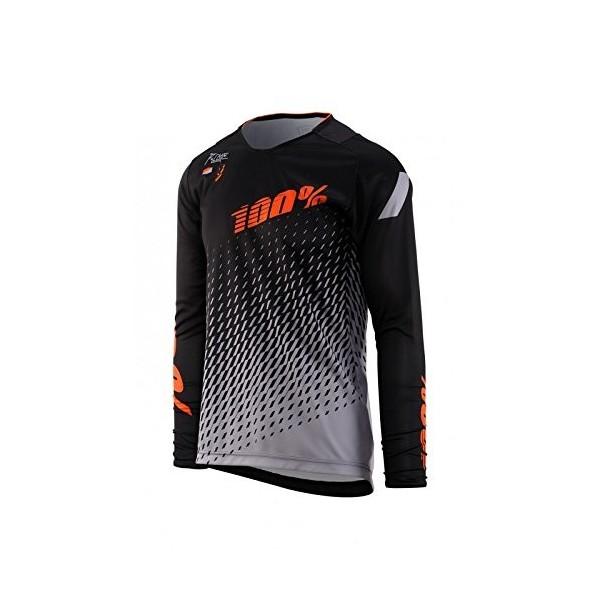 Inconnu 100% R maillot r-core Supra Mixta niño, negro/gris, FR: L  talla fabricante: L