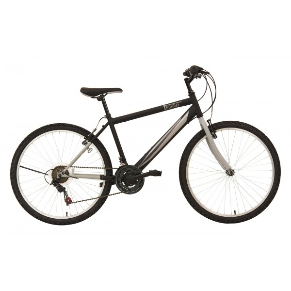 F.lli Schiano Thunder - Bicicleta de montaña para hombre, 18 velocidades, color negro/gris, cambio Shimano, rueda 26