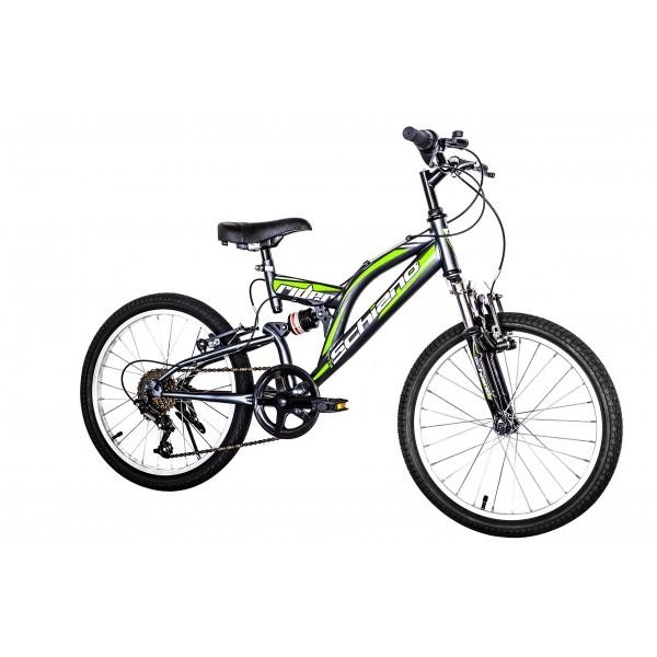 "F.lli Schiano Rider Shimano - Bicicleta Biamortiguada 18V para hombre, color anthracite/verde, 20"""
