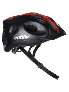 Catlike Tiko Casco de Ciclismo, Unisex adulto, Negro/Rojo, M/55-61 cm