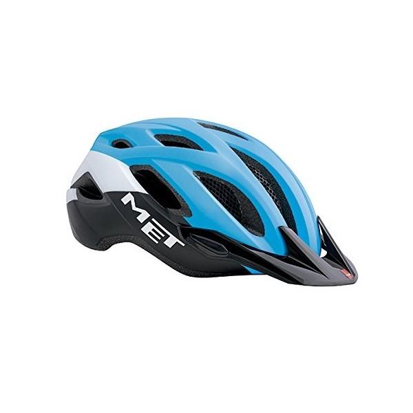 MET Crossover Casco de Ciclismo, Unisex Adulto, Turquesa, 52-59 cm