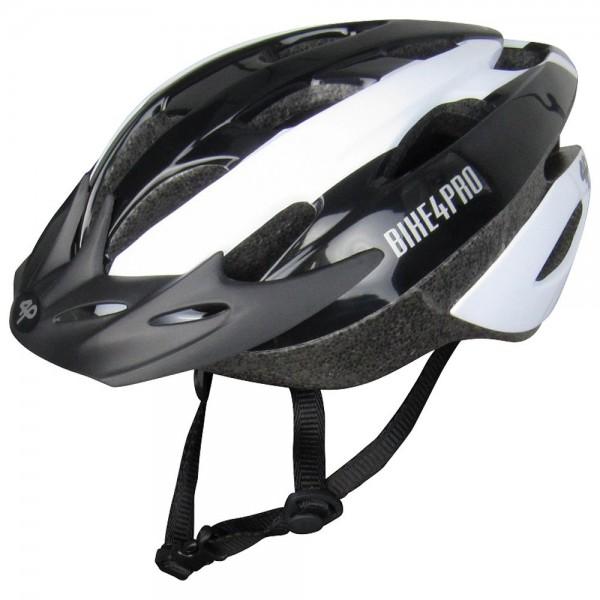 4PRO Speed - Casco de ciclismo para hombre, color blanco/negro, talla 58-62