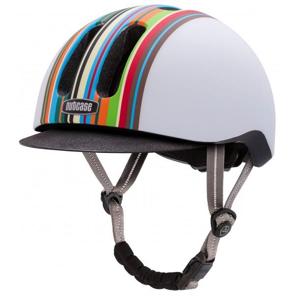 Nutcase Metroride Matte Bike et - Casco de ciclismo infantil, color multicolor  55-59 cm