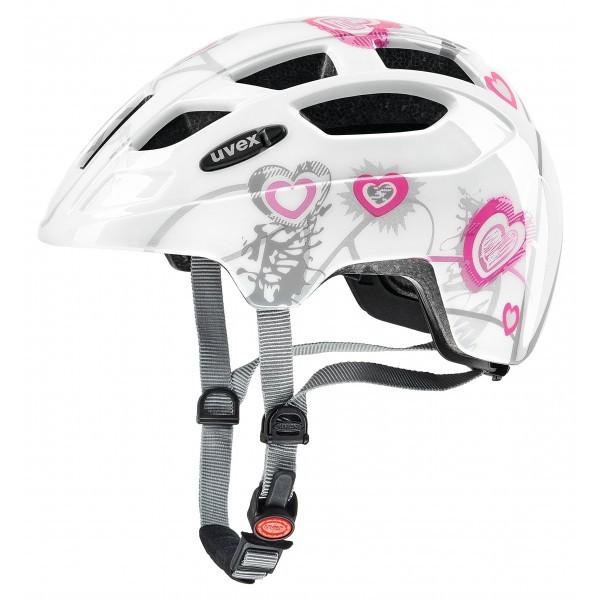 Uvex 414807 - Casco de Ciclismo, blanco/rosa, 51-55 cm