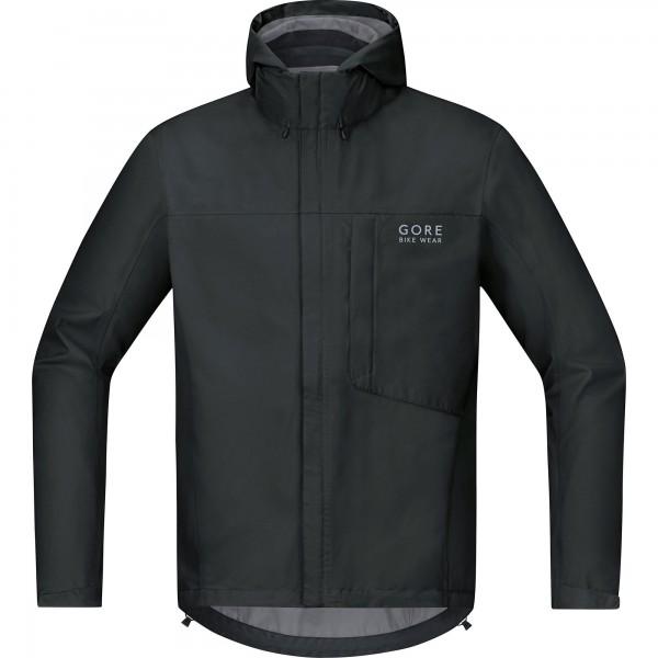 GORE BIKE WEAR Chaqueta para ciclismo en carretera o MTB, Hombre, Ligera, GORE-TEX, Paclite Jacket, Talla L, Negro, JGELMP990