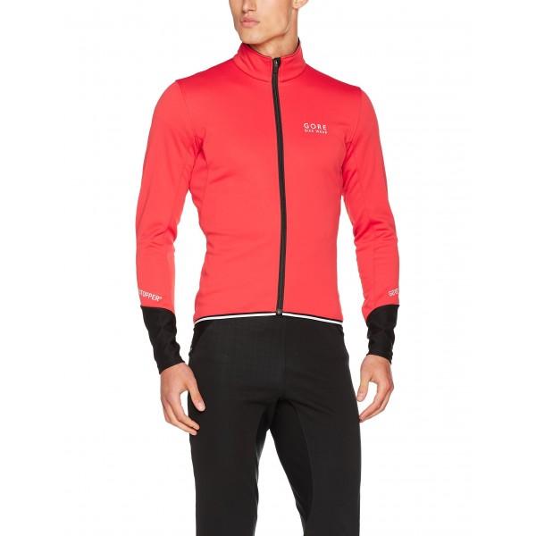 Gore Bike Wear, Chaqueta de Ciclismo en Carretera, Hombre, Windstopper Soft Shell, Power 2.0 Jacket, Talla S, Rojo/Negro, JWP