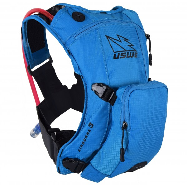 USWE Sports Niños Airborne 3Junior Hydration Pack, Blue, Fits All