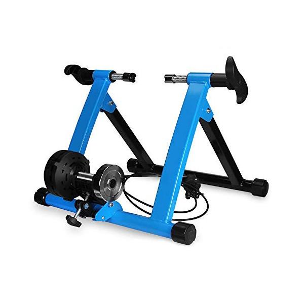 Klevsoure 26-28 Pulgadas Soporte de Rueda de Bicicleta Estación de Entrenamiento de Ejercicio de Ciclismo en Interiores Entre