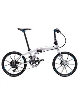 """Tern Metz Moover Verge X11 OO-Bicicleta Plegable  20"""", 11 Marchas , Color Cromado, Hombre, Rojo, Talla única"""