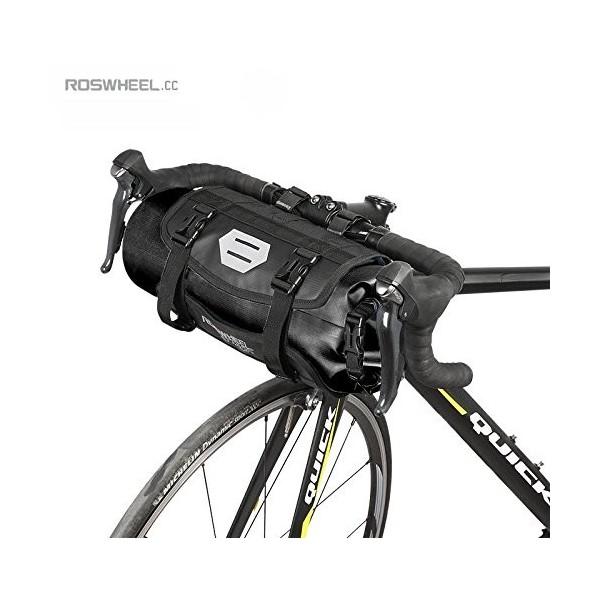 Jhua Bolsas para manillar de bicicleta MTB, bolsas extraíbles de alta capacidad 3-7 l, en color azul