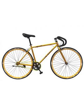 """Wizard Industry Helliot Soho 5305 - Bicicleta Fixie, Cuadro de Acero, Frenos V-Brake, Horquilla Acero y Ruedas de 26"""", Color"""