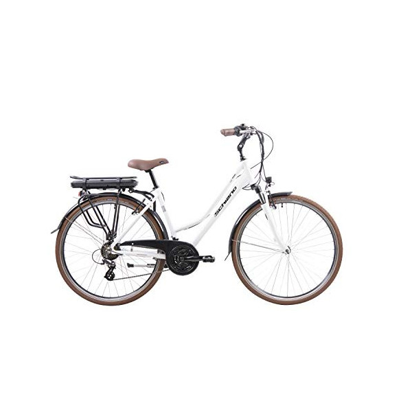 F.lli Schiano E- Ride Bicicleta, De Las Mujeres, Blanca, 28