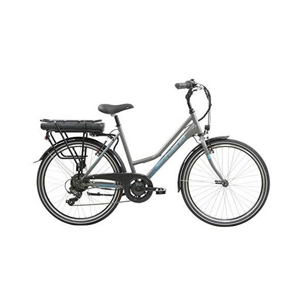F.lli Schiano E- Light 1.0 Bicicleta eléctrica, Womens, Antracita, 26