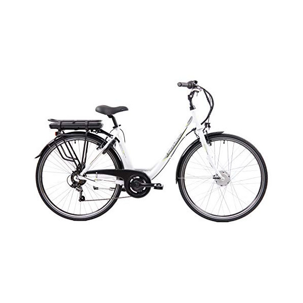 "F.lli Schiano E- Moon Bicicleta eléctrica, Adultos Unisex, Blanco, 28"""