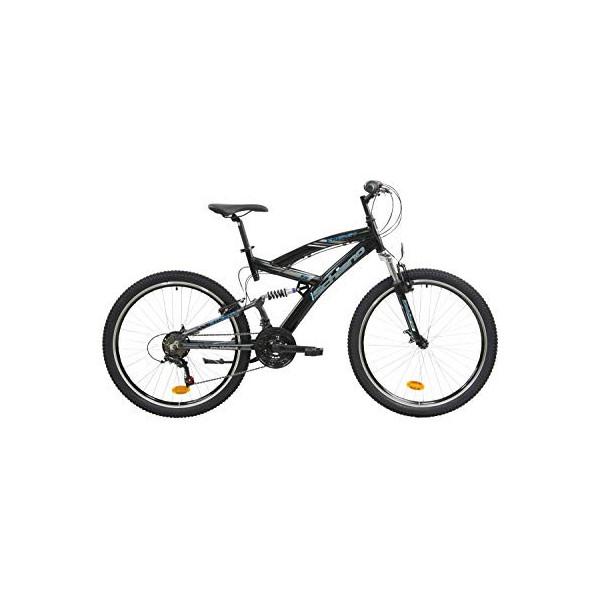 F.Lli Schiano Energy Bicicleta de suspensión Completa, Mens, Negro-Azul, 26