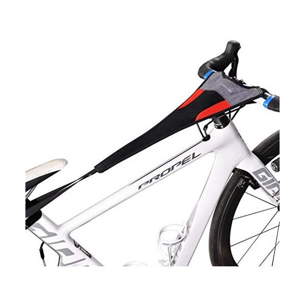 Bicicleta Entrenador Rodillo Sudor Neto Cubrir Cuadro Guardia Correa Absorbe Sudor  A
