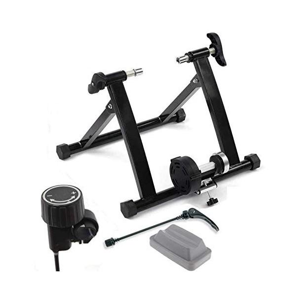 Ecovelò - Rodillo para Bicicleta para Entrenamiento en Interiores, Plegable, Resistencia magnética + Soporte + Cierre de libe