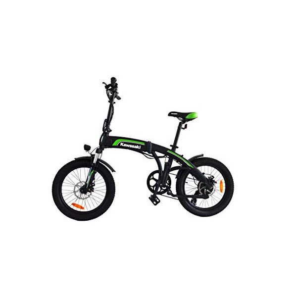 Amercook Bicicleta Eléctrica Plegable Kawasaki 20 Fat