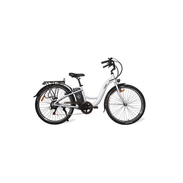 Velair Bicicleta eléctrica City, Color Blanco