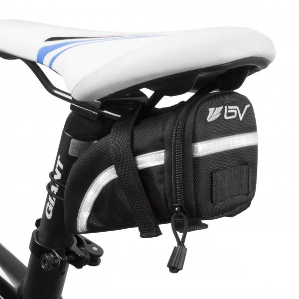 BV sillín de bicicleta con correa ajustable y bolsa, bolsillo interior de malla