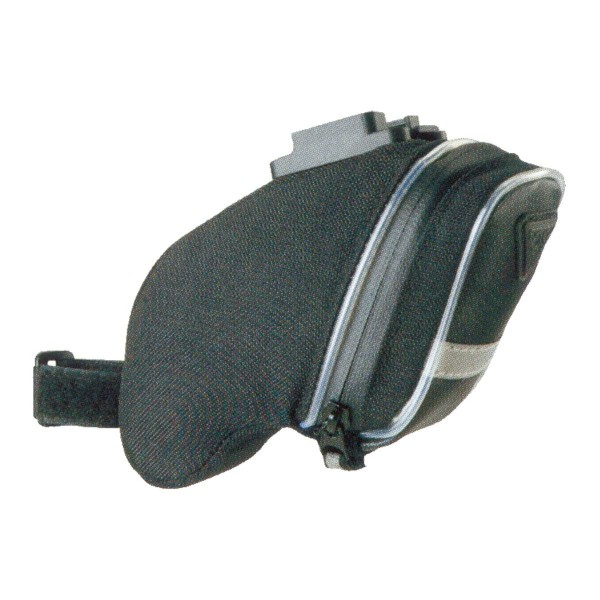 Topeak Bolsa para sillín con Fixer F25aerowedge Iglow, Black, 15x 5.5x 15cm, 0,8L, TIG de aw01