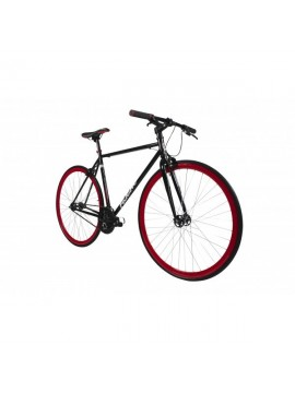 Falcon Forward - Bicicleta de carretera, rueda 27.55 in, color negro/rojo