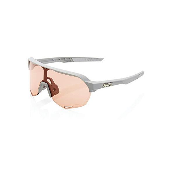 100% GAFAS S2-Soft Tact Stone Grey-Hiper Coral Lens, Adultos Unisex, Gris, Estandar
