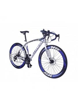 Helliot Bikes Helliot Sport 02 Bicicleta de Carretera, Unisex Adulto, Blanca/Azul, M-L