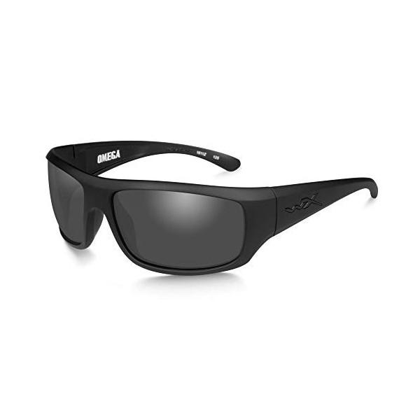 Wiley X WX Omega Gafas de Sol, Unisex, Wx Omega, Matte Black/Ops Smoke Grey, M/L