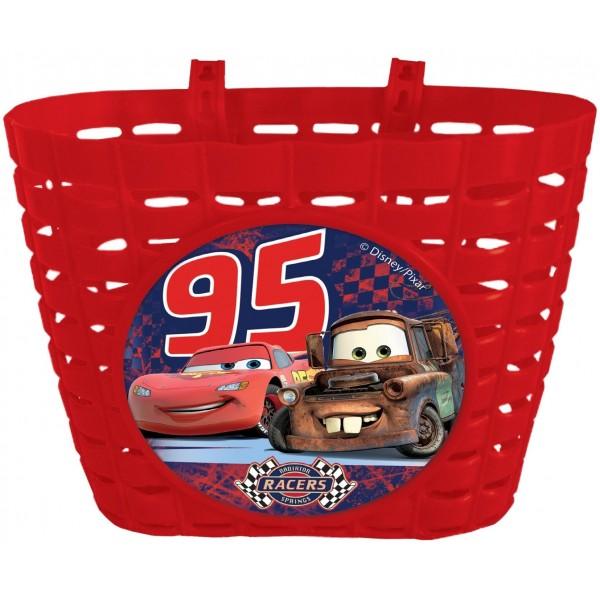 Disney 35562 - Cesto de bicicleta infantil, diseño de Cars, color rojo
