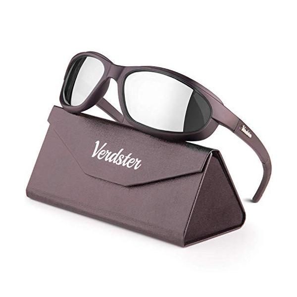 Verdster Airdam – Gafas de Sol Polarizadas para Hombre para Moto – Protección UV, Diseño Cómodo Envolvente con Almohadillas d