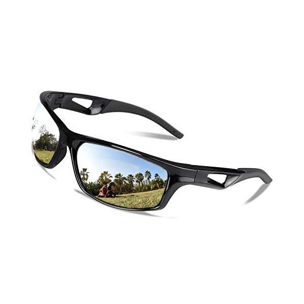 V VILISUN Gafas de Sol Polarizadas Deportivas, Gafas Ciclismo Unisex UV 400 Protección Y Marco TR-90, para Actividades Al Air