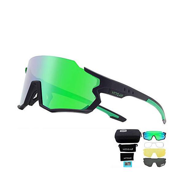 HTTOAR Gafas de sol deportivas polarizadas Ciclismo para hombres y mujeres Correr Pesca Golf TR90 Marco Protección UV400  Neg