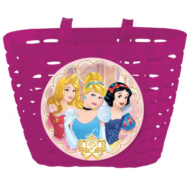 Disney 35055 - Cesto para bicicleta infantil, diseño de Princesas, color rosa